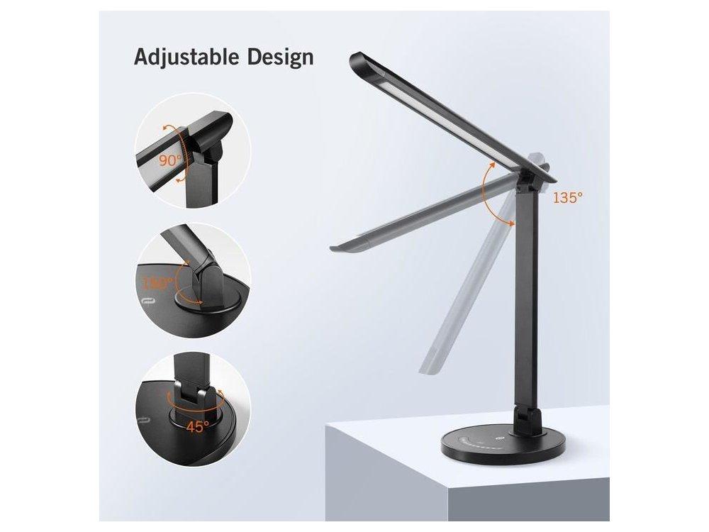 TaoTronics TT-DL13 Touch control Desk Lamp with USB Port, Black