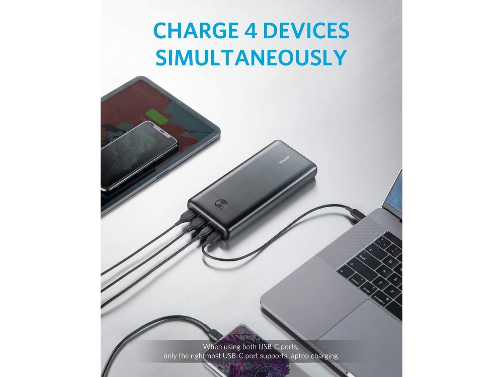 Anker PowerCore III Elite 25600 87W PD USB-C Power Bank 25.600mAh Power Delivery - A1291H11, Μαύρο