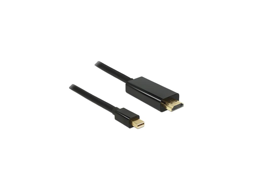 Nordic Mini DisplayPort to HDMI 4K@60Hz Adapter, with 20cm cord, Black - MDHM-N9003
