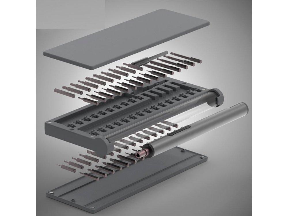 Nordic Σετ Εργαλειοθήκης Με Εργαλεία με Ηλεκτρονικό Κατσαβίδι με LED και μύτες για Ηλεκτρονικά 55τμχ - KS-88025