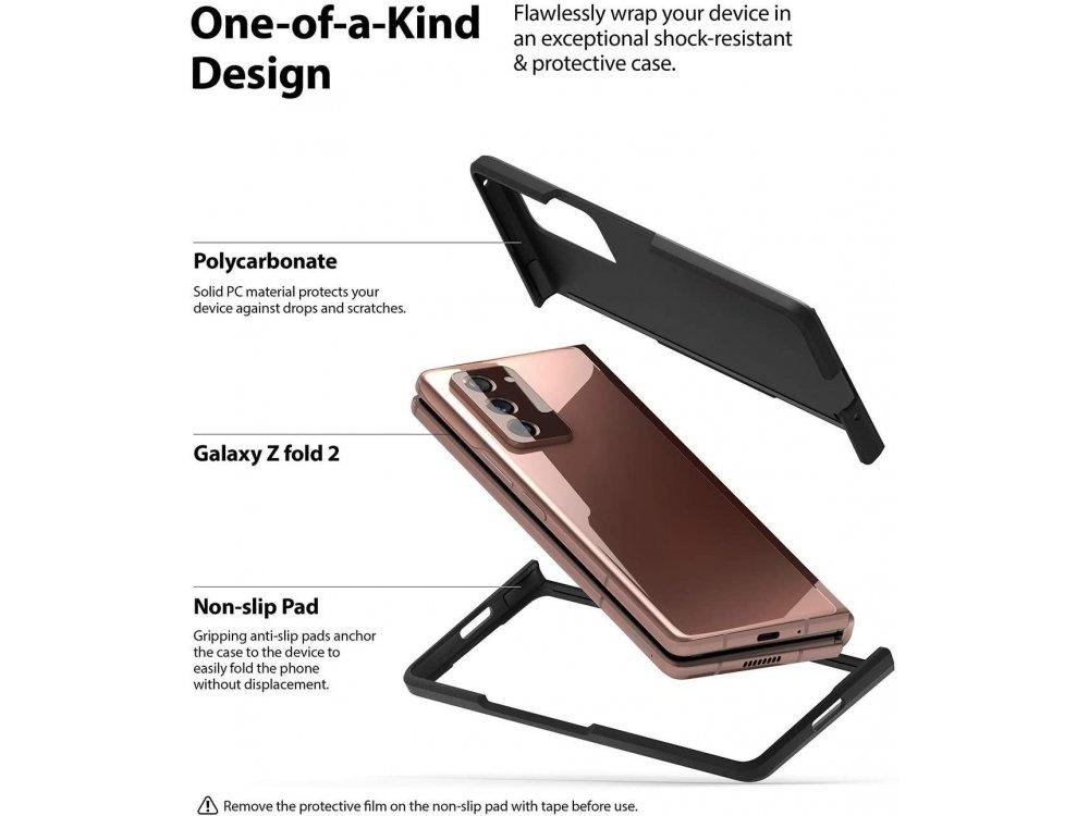 Ringke Slim Galaxy Z Fold 2 Back Cover Durable Silicone, Matte Black
