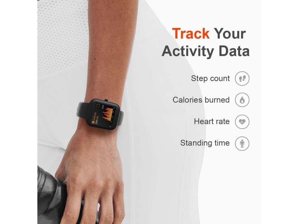 """Virmee VT3 Smartwatch 1.3"""" LCD HD Screen, Real Time Health Monitoring, 18 Sports Modes, IP68, HR & SpO & Sleep Monitor, Μαύρο"""