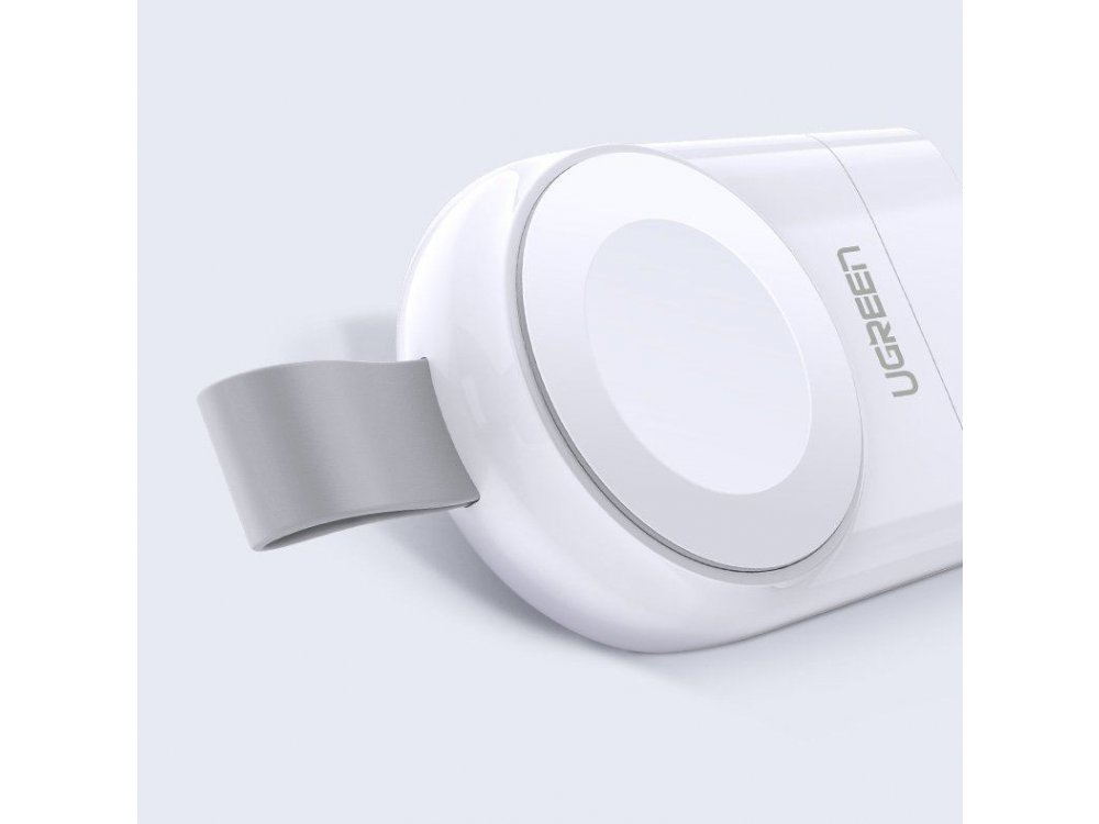 Ugreen Mini Apple Watch Portable Charger Qi 2.5W, MFI certified - 50944, White