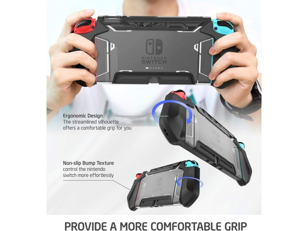 Mumba Blade Nintendo Switch Case / cover protection Dockable - Black