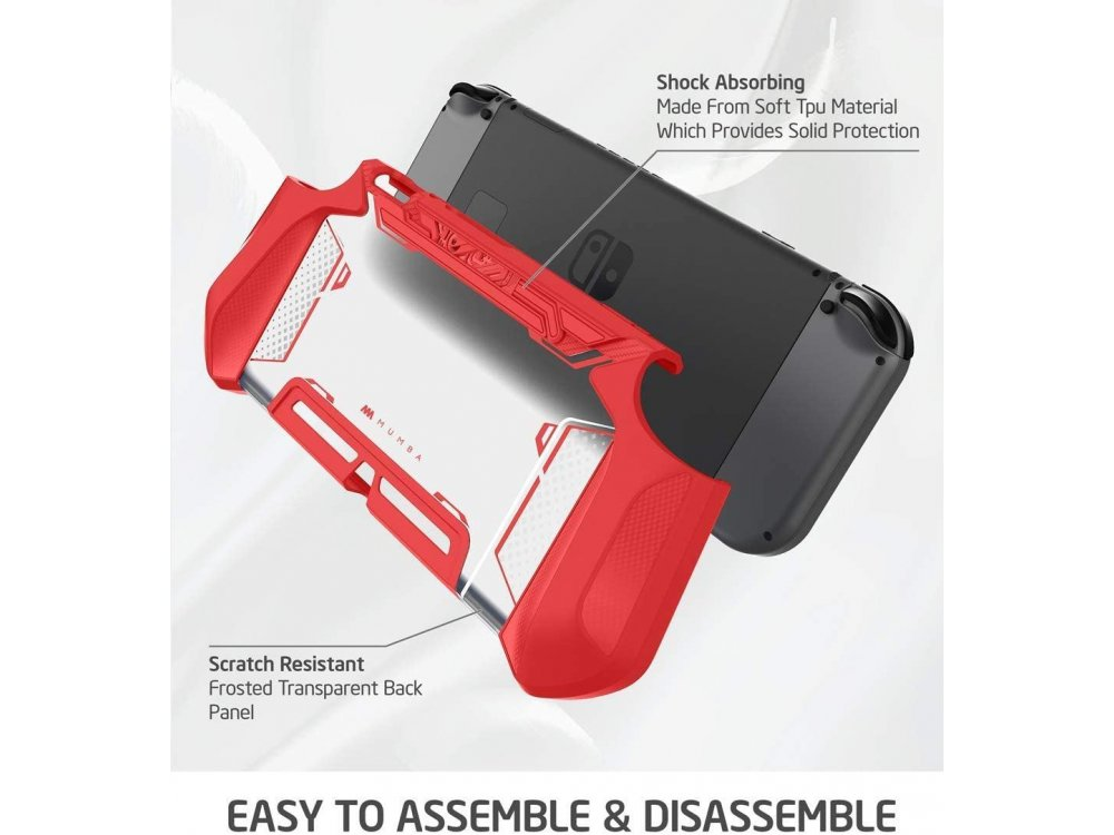 Mumba Blade Nintendo Switch Case / cover protection Dockable - Red