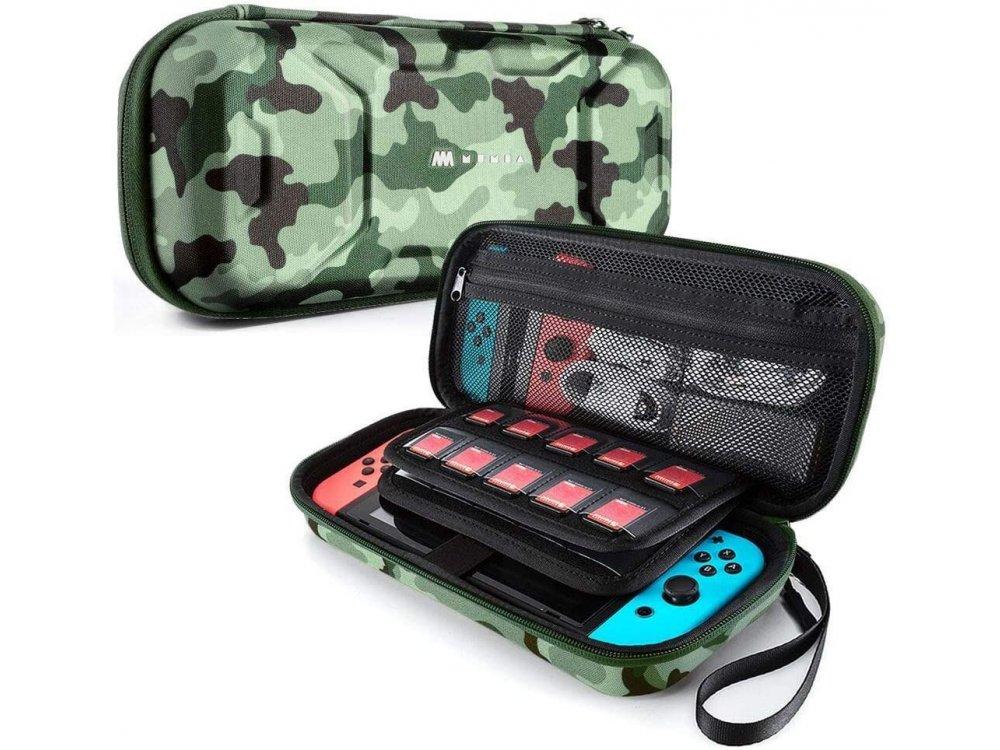 Mumba Deluxe Nintendo Switch θήκη μεταφοράς για συσκευή και παρελκόμενα - Camo Green