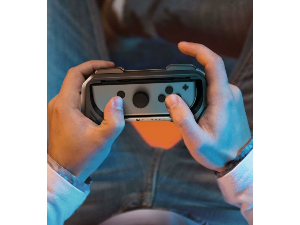 Mumba Joy-Con Controller Grips για Nintendo Switch, Σετ των 2, Μαύρα