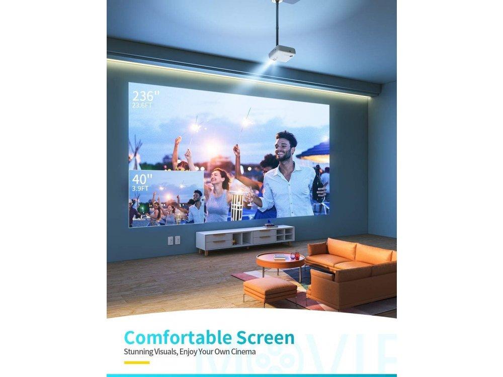 VANKYO Leisure 430W Portable Mini Projector HD 1080p, WiFi, HD 720p Native resolution, 4500 Lumens, 3500:1 Contrast Bass Edition
