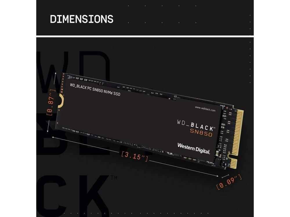 Western Digital BLACK SN850 500GB SSD NVMe Σκληρός Δίσκος, M.2 PCIe Gen4 - WDS500G1X0E