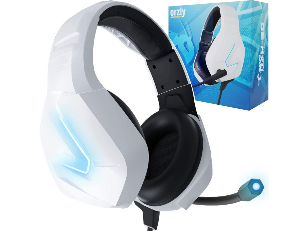 Orzly Hornet RXH-20 LED Gaming Headset Noise-canceling Microphone (PC / PS5 / Xbox / Switch / Mac), Siberia Edition