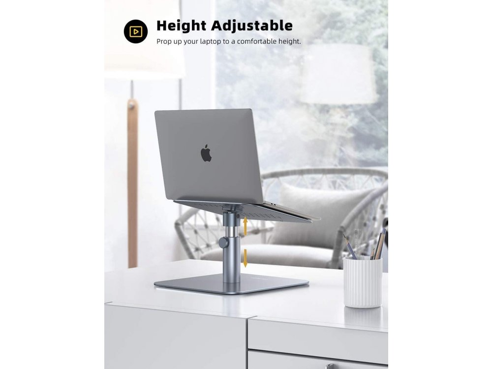 """Lamicall LB Laptop Stand Height Adjustable & Rotating Stand for Laptop / Macbook 10-17.3 """", Space Gray"""