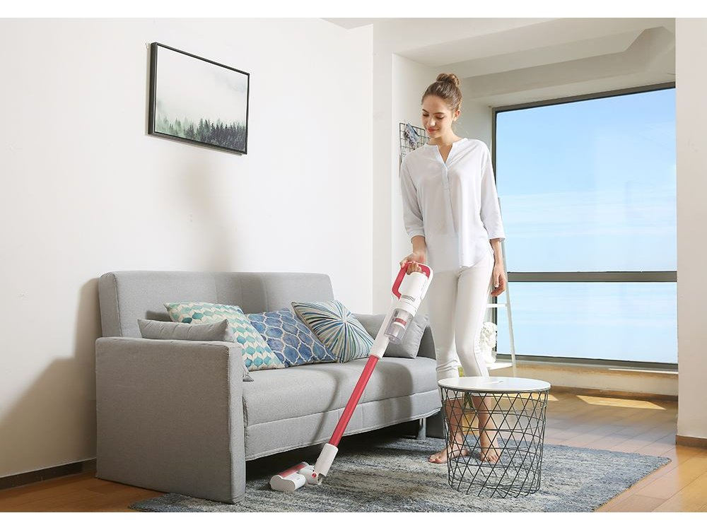 Roidmi S1 Special Cordless Vacuum Cleaner / Stick 2-in-1, 120AW, Rechargeable, White / Red