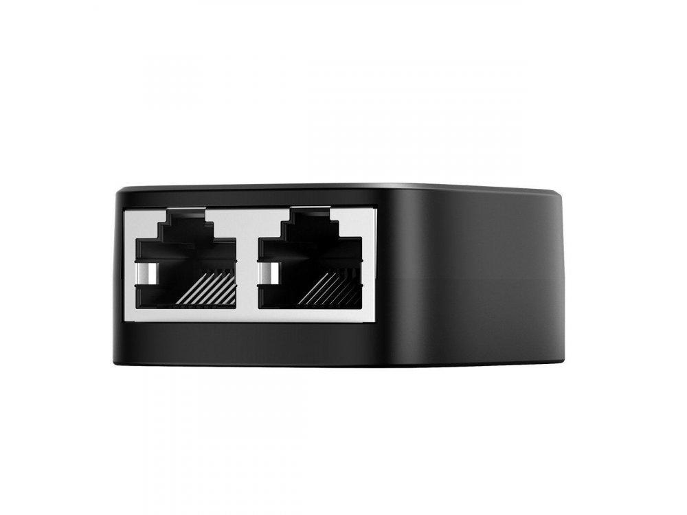 Baseus High Speed Ethernet 2-1 Gigabit Network Splitter / Combiner RJ45 Adapter, Μαύρος