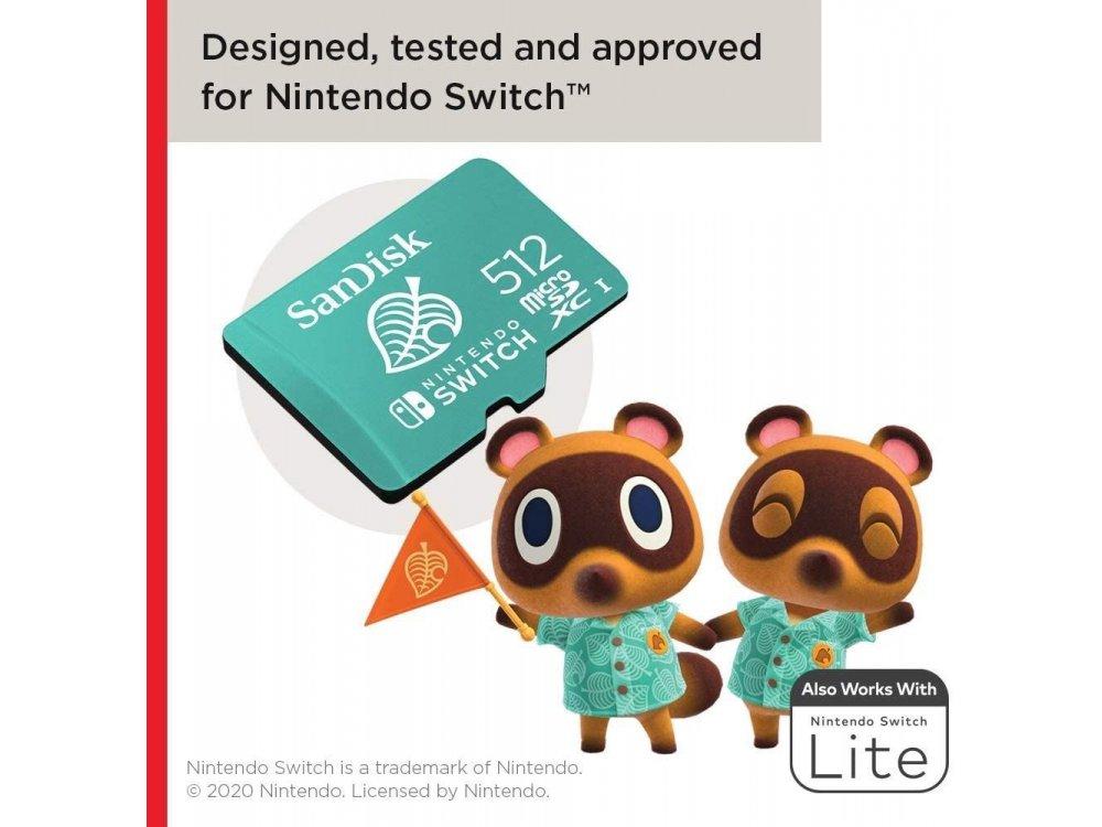 Sandisk micro SDXC 512GB card for Nintendo Switch - SDSQXAO-512G-GNCZN