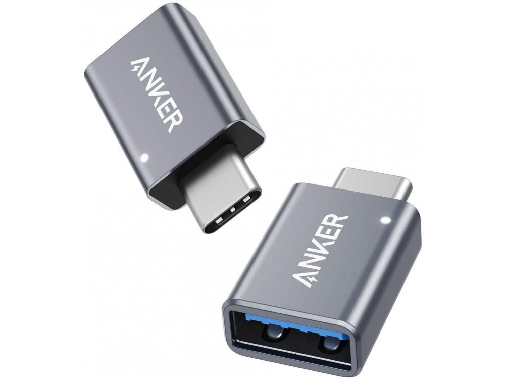 Anker USB-C to USB 3.0 Adapter Female - B87310A1, Set of 2, Silver