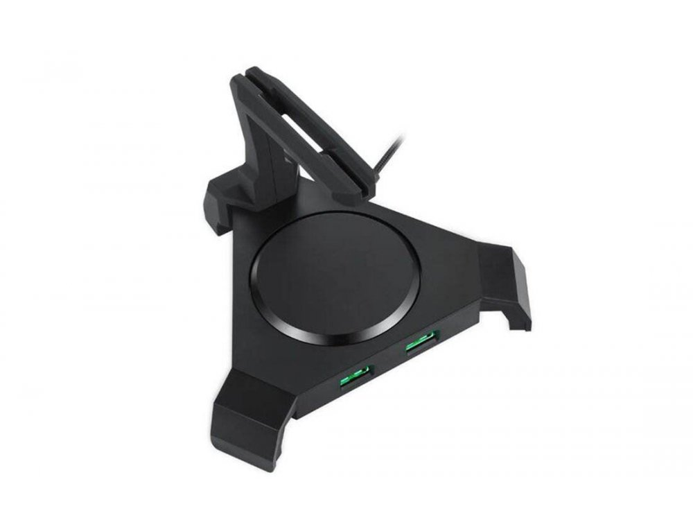 Motospeed Q20 Mouse Bunge, Mouse stand / cable holder & USB Hub, for Mouse cable holder, Black