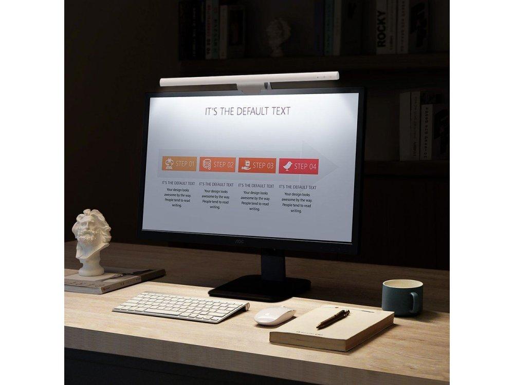 Baseus i-Wok LED Screen Lamp Hanging, Λάμπα Οθόνης με 3 Color Modes & Ρύθμιση Φωτεινότητας, Λευκή - DGIWK-B02