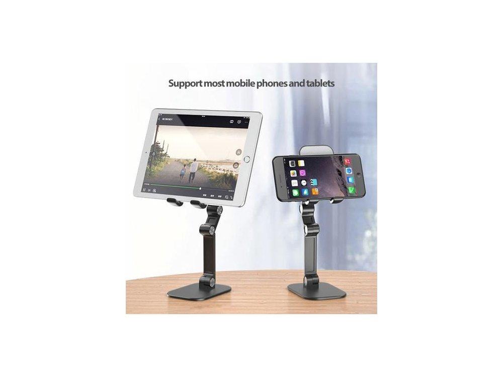 Nordic Ρυθμιζόμενο Desktop Bracket Holder, Βάση / Stand τοποθέτησης Tablet, Λευκό - MH-109
