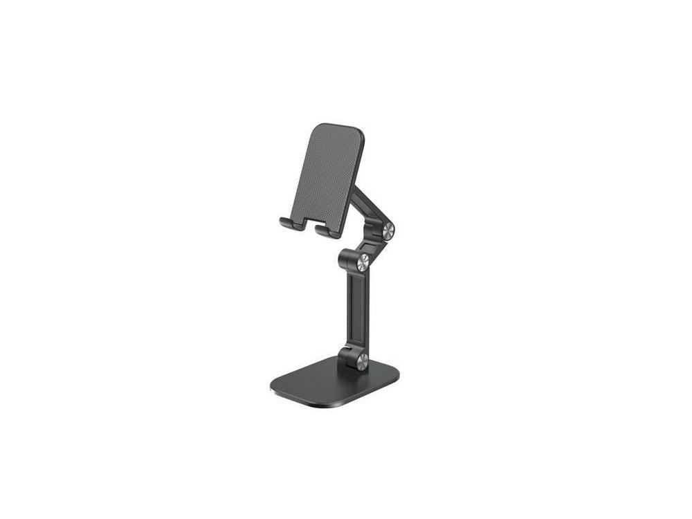Nordic Ρυθμιζόμενο Desktop Bracket Holder, Βάση / Stand τοποθέτησης Tablet, Μαύρο - MH-110