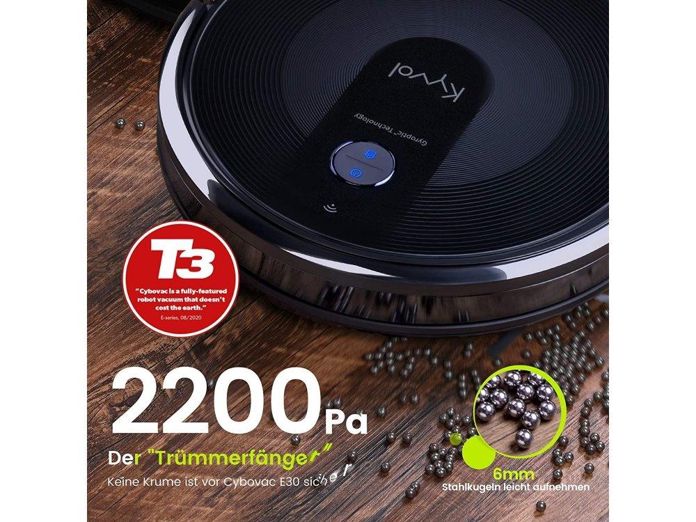 Kyvol Cybovac E30 Smart Robot Vacuum Cleaner 2200Pa με WiFi, Super-Slim & Gyroptic Navigation System