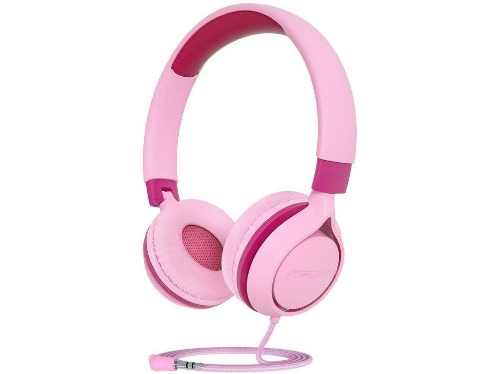MPOW CHE1 Kids Headphones, Ενσύρματα ακουστικά για Παιδιά - MPBH385AP, Ροζ
