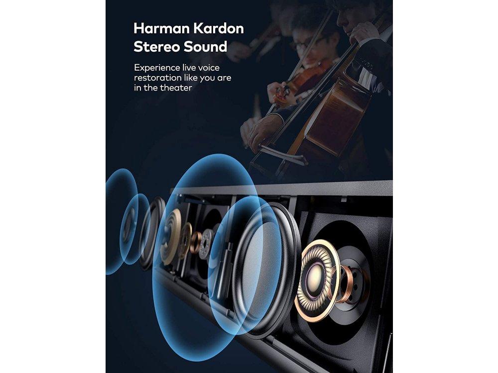 VAVA 4K UST Laser Projector, 2500 ANSI Lumens, HDR10, Harman Kardon Sound Bar 60W, ALPD 3.0, Android - VA-LT002, Black