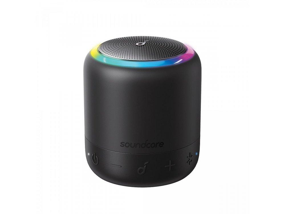 Anker Soundcore Mini 3 Pro, Φορητό Bluetooth Ηχείο 6W RGB με APP - A3127G11, Μαύρο