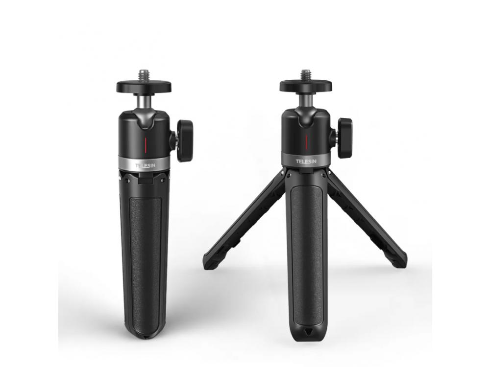 Telesin Portable Mini Tripod, Μίνι Τρίποδο για Φωτογραφική/Προτζέκτορα - GP-MNP-091-W
