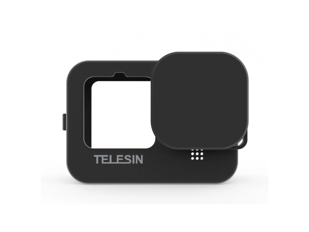 Telesin GoPro Hero 9 Smooth Silicone Protection Case for Action Camera, Black