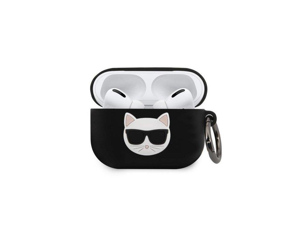 Karl Lagerfeld AirPods Pro Choupette Silicone Case, Black
