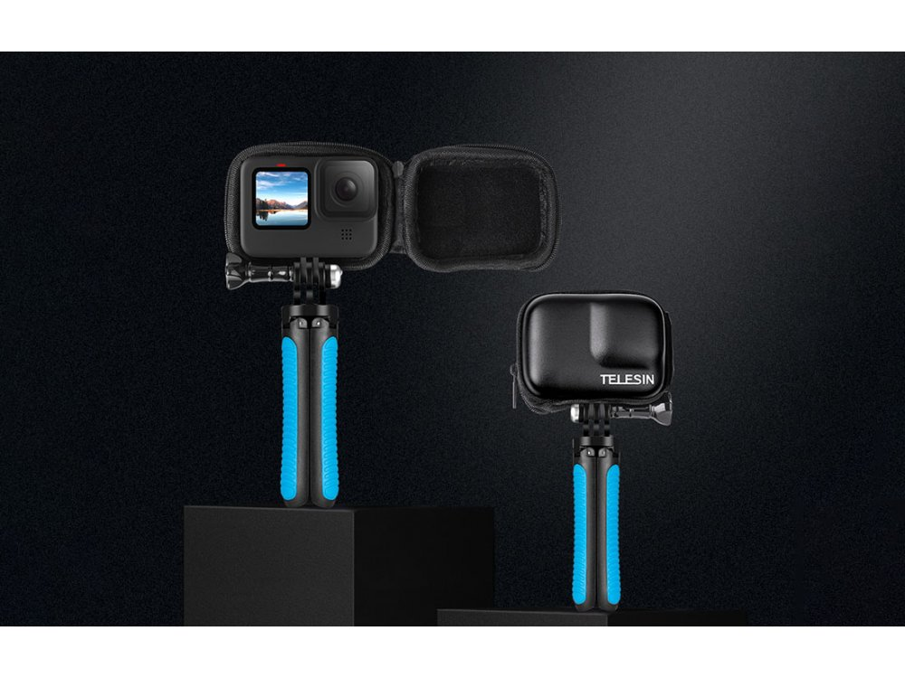 Telesin Organizer / Travel Case for Action Camera GoPro Hero 9 - GP-CPB-901, Black