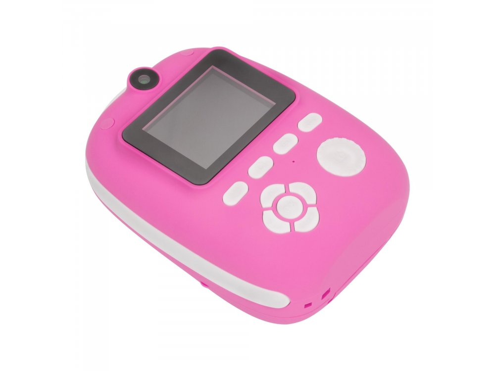 Redleaf BOB Camera with Instant printer, Instant Camera with Printer & Full HD Video, Pink