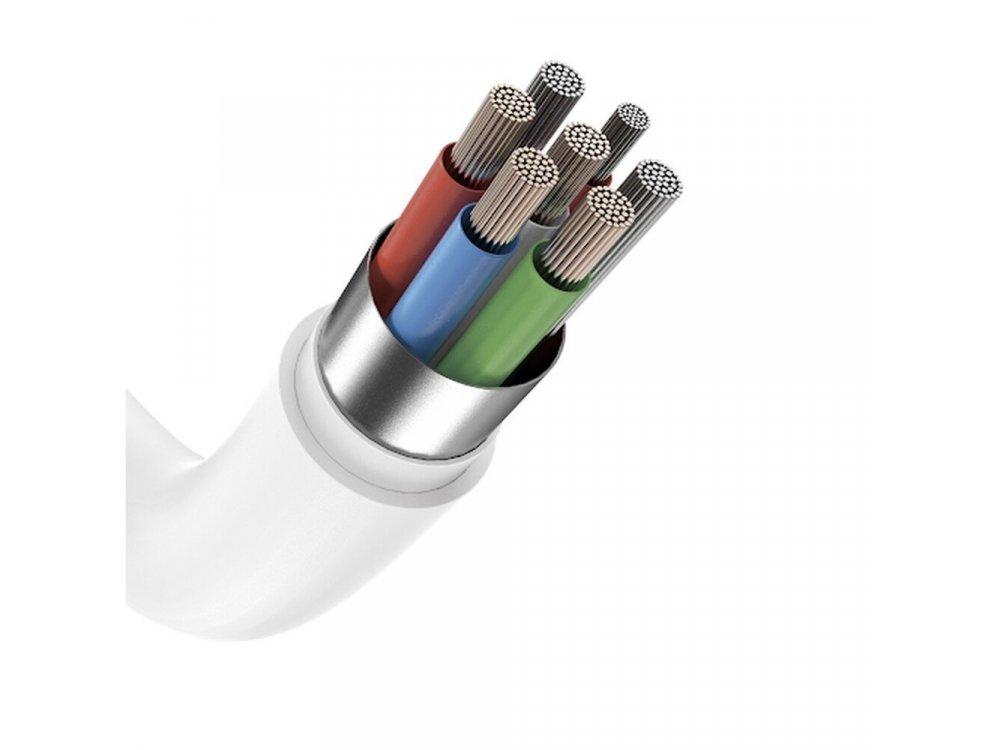 Anker PowerLine Select 1.8μ. Lightning Καλώδιο σε USB-C για Apple iPhone / iPad / iPod MFi & PD Φόρτιση, Λευκό - A8613H21