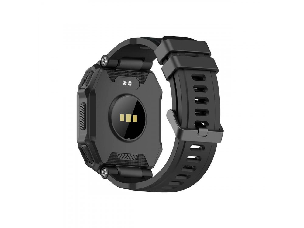 """Blackview R6 Rugged Smartwatch 1.3"""" TFT-LCD Screen, Real Time Health Monitor GPS, 8 Sports Modes IP68, Heart Rate Monitor, Μαύρο"""