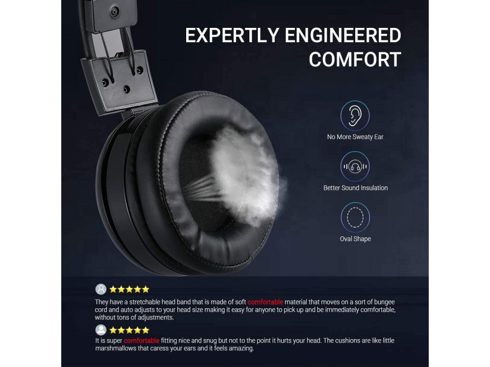 ABKO B780 RGB LED Gaming Headset 7.1 360 ° Surround Sound with Vibration, Noise-cancelling Microphone, Black