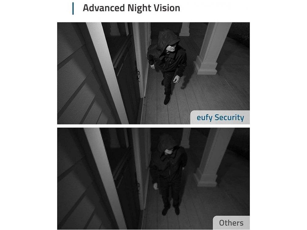 Anker eufyCam 2 ΚΙΤ 3 Ασύρματων Καμερών FullHD με Κέντρο, 1-Year Battery Life, Human detection, Night Vision, by Eufy - T88423D2
