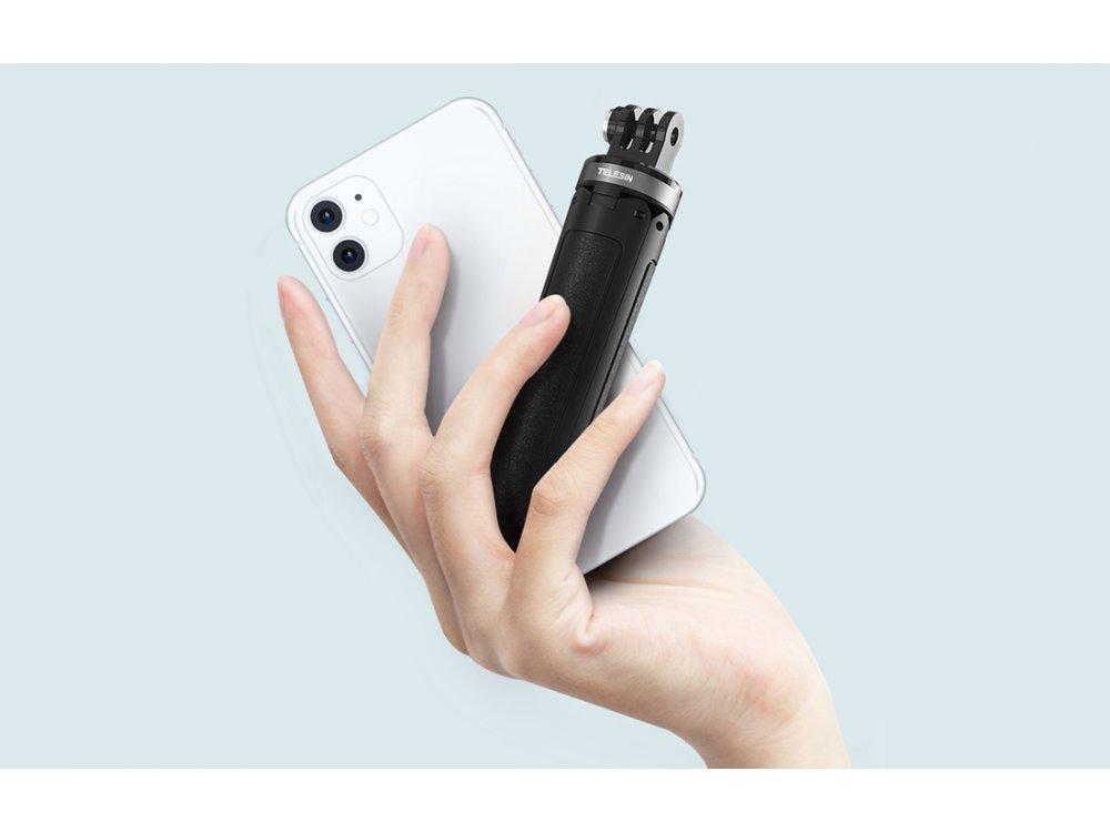 Telesin Portable Mini Tripod, Mini Tripod for Action Camera (GoPro, DJI Osmo, Apeman, Xiaomi etc.) - GP-MNP-092-X