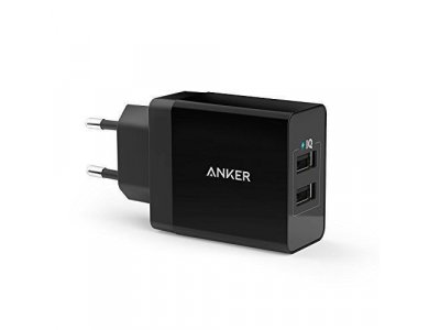 Anker 2-Port Wall Charger 24W, Black