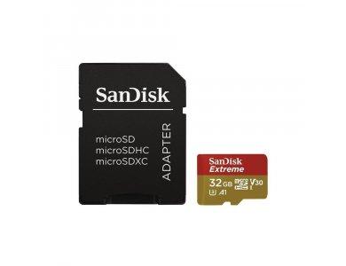 Sandisk Extreme microSDXC 32GB U3 V30 A1 with Adapter - SDSQXAF-032G-GN6MA