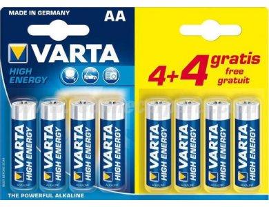 Αλκαλικές Μπαταρίες AA 1.5V Varta High Energy 4+4 Τεμ - 4906