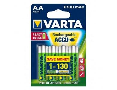 Varta AA Επαναφορτιζόμενες Μπαταρίες 2100mAh Ni-MH Ready To Use 4 Τεμ - 56706
