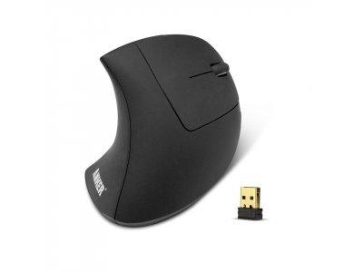 Anker Wireless Vertical Ergonomic Mouse, 800 / 1200 / 1600DPI, 5 Button - A7852011, Black