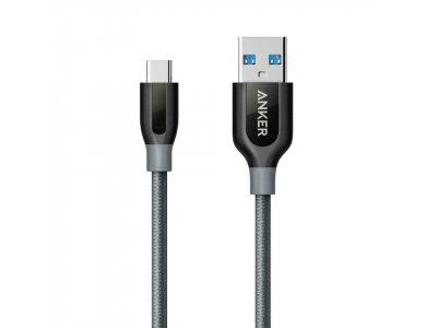 Anker Powerline+ USB-C σε USB 3.0 Καλώδιο 1μ. με Νάυλον ύφανση -A81680A2, Μαύρο