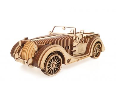 Ugears Roadster Wooden Mechanical 3D Puzzle