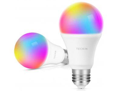 Teckin SB50 Έξυπνη λάμπα LED WiFi, Λευκή & Πολύχρωμη 7.5W (σαν 60W) E27 (Δε χρειάζεται Hub)