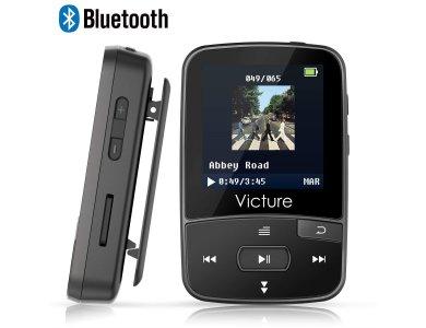 Victure M3 MP3 Player 8GB Clip Sport BT4.0, Black