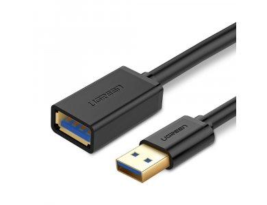 Ugreen USB 3.0 Repeater Cable 2μ., Καλώδιο Επέκτασης, USB-A Extender Μαύρο - 10373