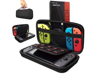 Orzly Nintendo Switch case for device and accessories, black
