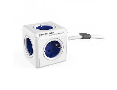 Allocacoc PowerCube Extended 5 Πριζών Σούκο 1.5m Μπλε - 1306BL/DEEXPC