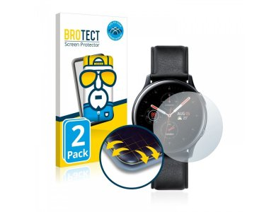 Brotect Samsung Galaxy Watch Active 2 (44mm) Flex Full-Cover Screen protector (2-pack) - 5136262